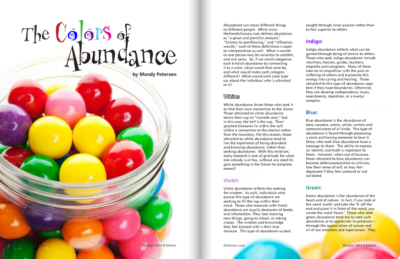 Om Times - The Colors of Abundance